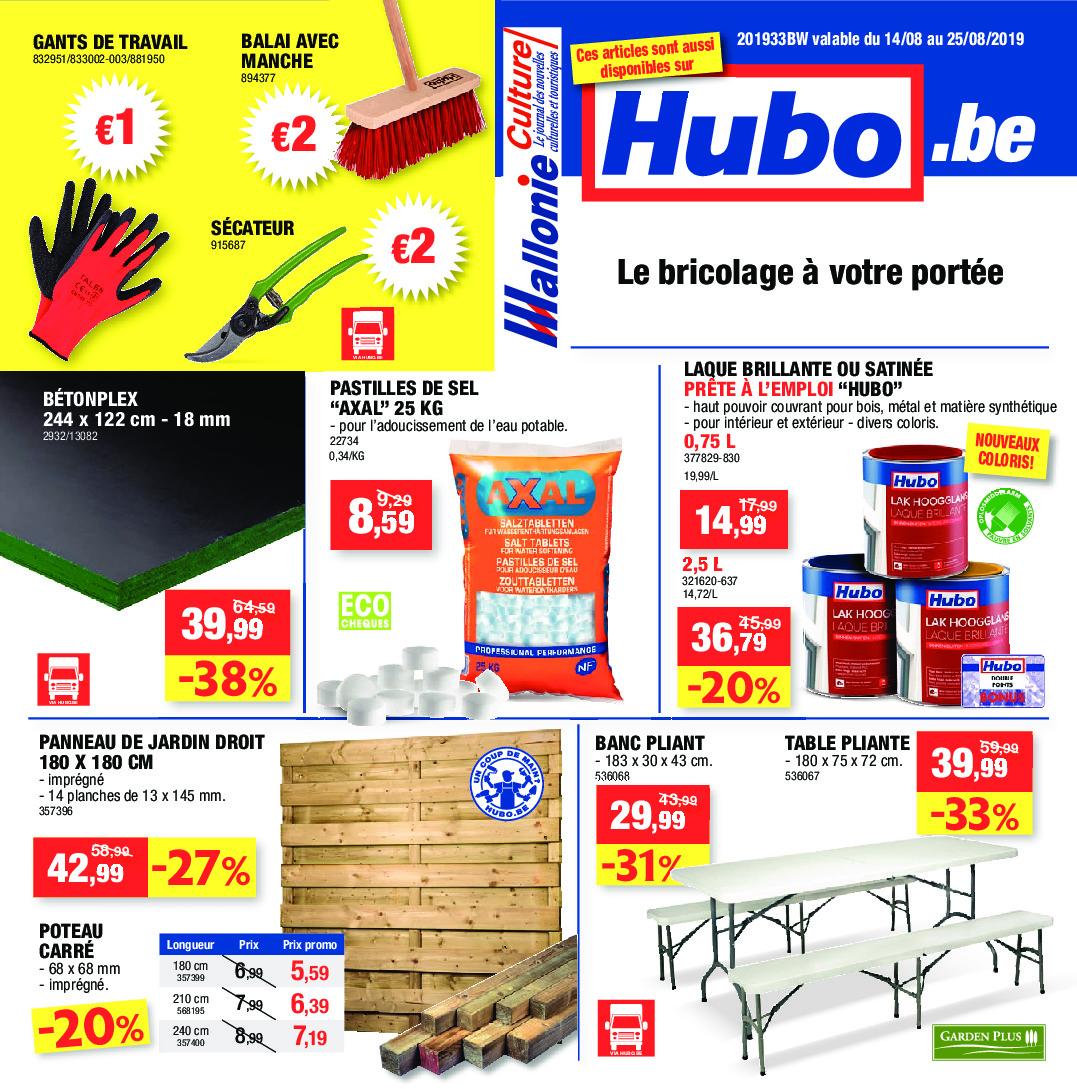 Hubo Dépliant Du 14 08 2019 Au 25 08 2019 Page 1