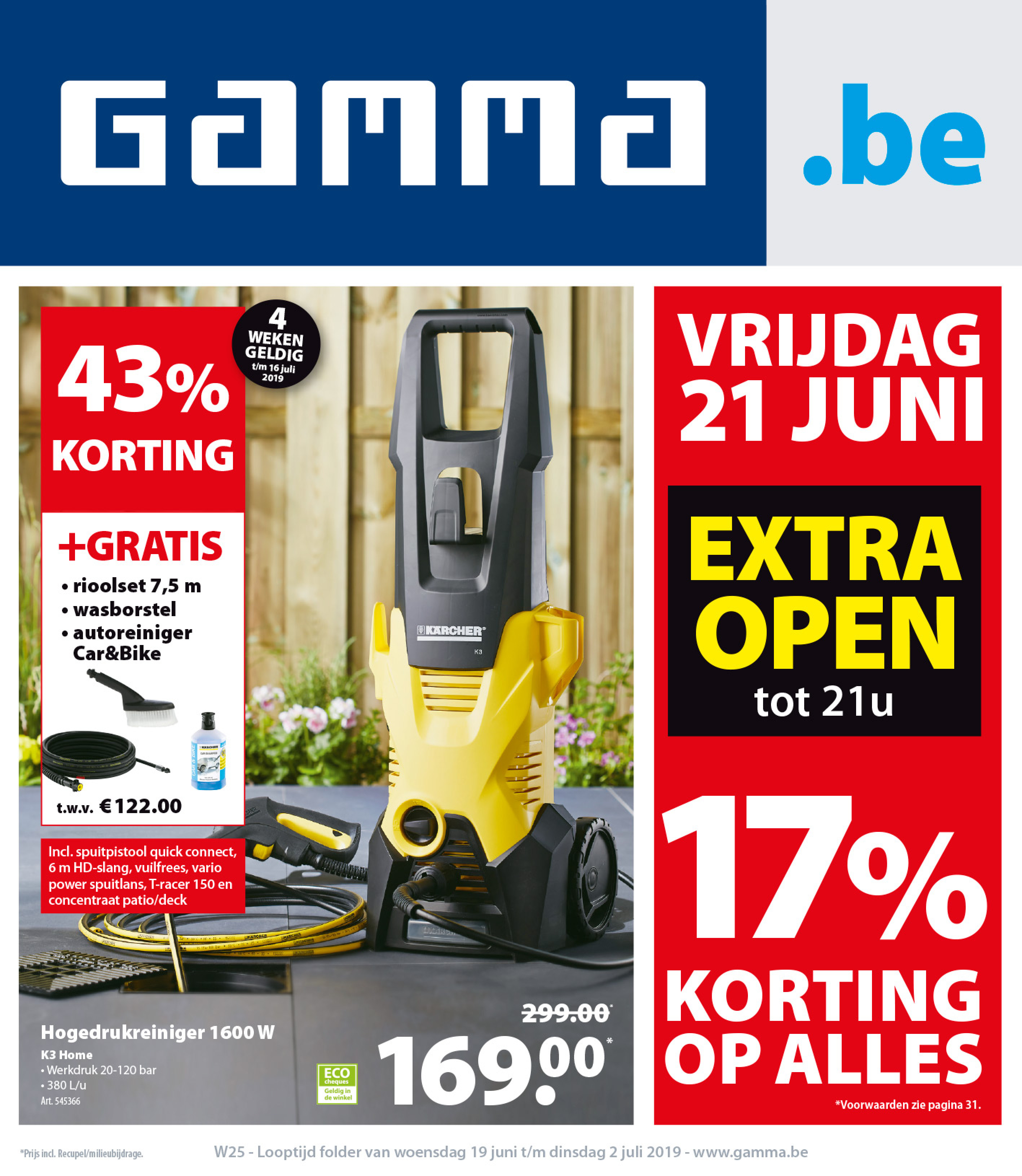 Kunststof Stelling Gamma.Gamma Folder Van 19 06 2019 Tot 02 07 2019 Pagina 1 Winkelfolders