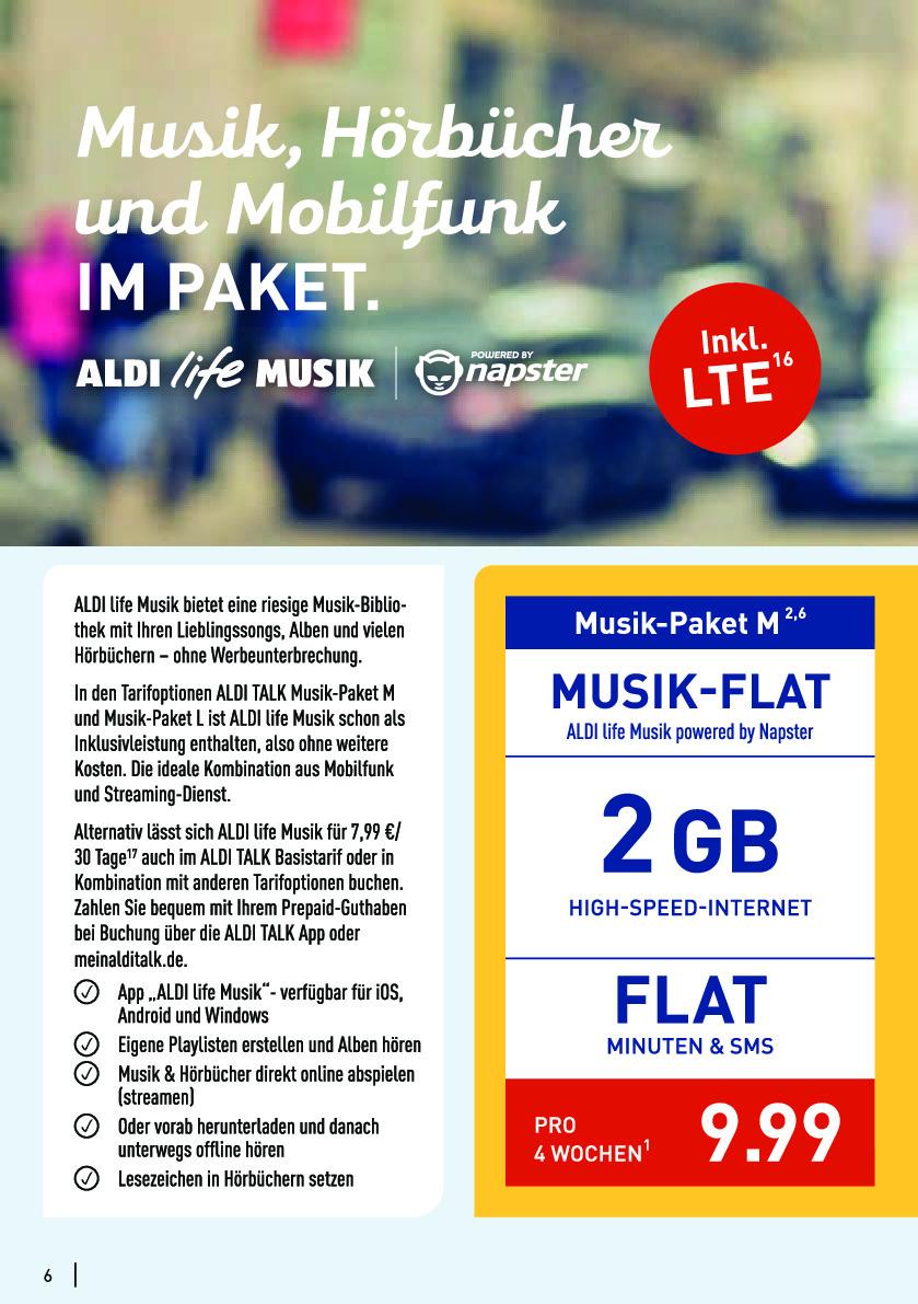 aldi musik flat