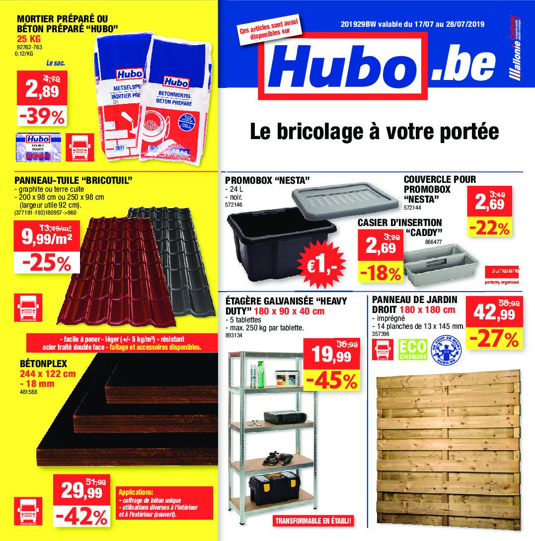 Hubo Dépliant Du 17 07 2019 Au 28 07 2019 Page 1